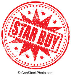 "Star Buy Stamp - Rubber stamp illustration showing ""STAR BUY..."