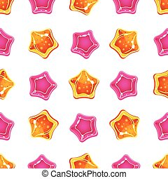 Star Candy Pattern. Vector Illustration