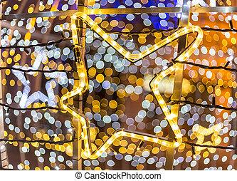 Star chaped Christmas decoration - Star shaped Christmas...
