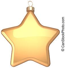 Star Christmas ball gold decoration