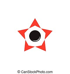 star circle arrows geometric logo