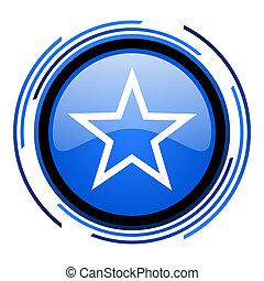 star circle blue glossy icon