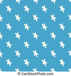 Star clothes button pattern vector seamless blue repeat for...