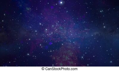 Star cluster and plasma in outer space 5 - Star cluster and...
