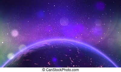 Star cluster and plasma in outer space 8