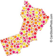 Collage oman map of service tools  Service oman map mosaic of