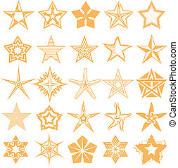 Star Collection - Collection of star shaped symbols and...