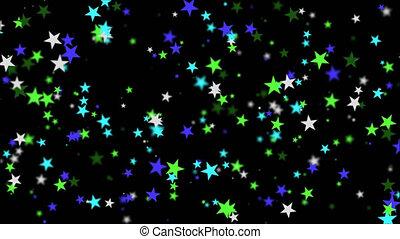 Star confetti Alpha channel - Star confetti flying in the...