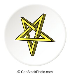 Star crossed icon, cartoon style