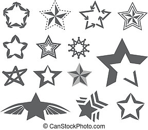 Star design on white background vec
