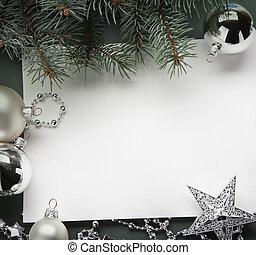 star), drzewo, ozdoby, piłki, (live, boże narodzenie