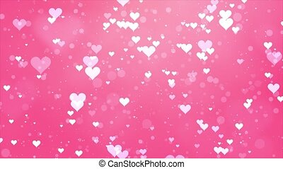 Star Dust Sparkling Glamur Heart Pink Particles on Black 4k ...