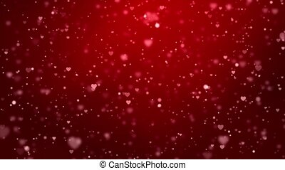 Star Dust Sparkling Glamur Heart Red Particles on Black 4k ...