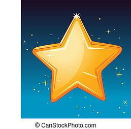 star - illustration of a star in night sky