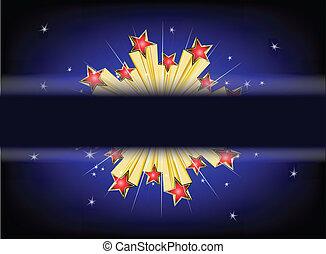 Star explode Vector background