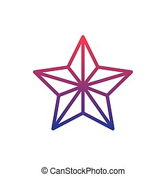 star fantasy line gradient icon