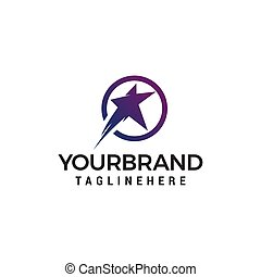 star fast logo design concept template vector