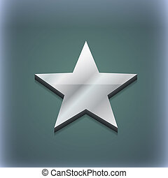 Star, Favorite icon symbol. 3D style. Trendy, modern design...