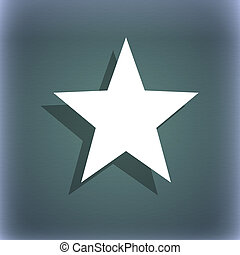 Star, Favorite icon symbol on the blue-green abstract...
