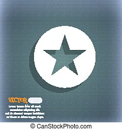 Star, Favorite icon symbol on the blue-green abstract background with shadow and space for your text. Vector