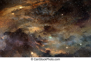 star field and cosmic gas in the outer space