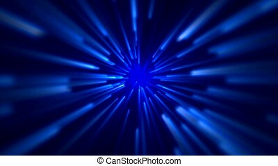 star field, blue ray light in space