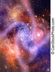 Star field in space and a nebulae - Star field in space, a ...