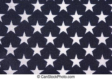 Star field on American Flag
