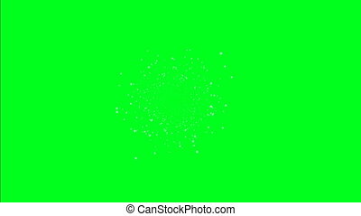 Star field on green screen