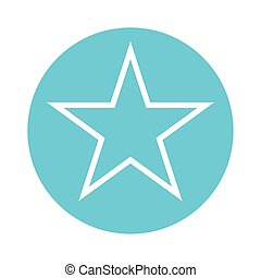 star five pointed block style icon