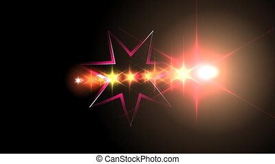 Star Flare Animation - A motion graphic video animation clip...