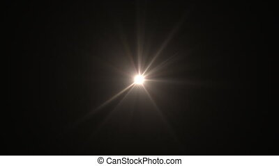 lens flare special effect with dark background