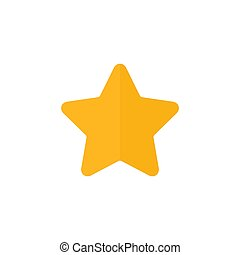 Star flat icon.