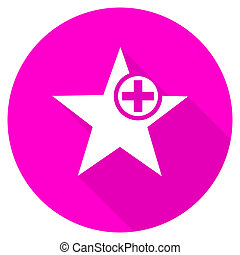 star flat pink icon