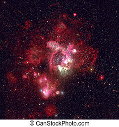 Star-forming region in the Large Magellanic Cloud. -...
