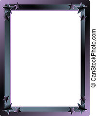 Star Frame or Border - Purple and muted blues frame with...