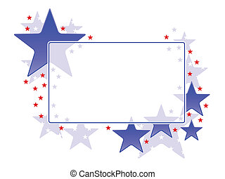 star frame - Stock Vector Illustration: Frame with patriotic...