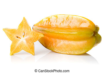 star fruit - carambola - Star fruit isolate on white...