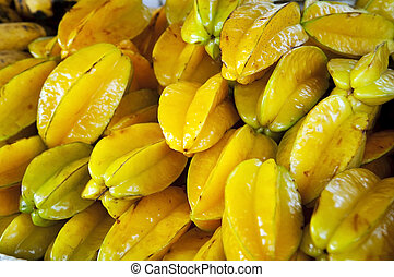 Star Fruit - Tropical star fruit in a pile