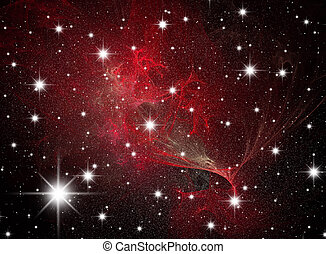 Star galaxies - Night sky. A congestion of stars. Astronomy...