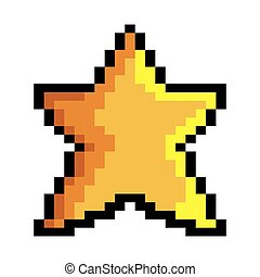 star game pixel figure isolated icon