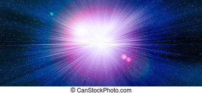 Star gate blue explosion in a galaxy of an universe.