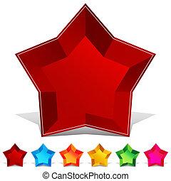 Star Gemstone Button Set - An image of a star gemstone...
