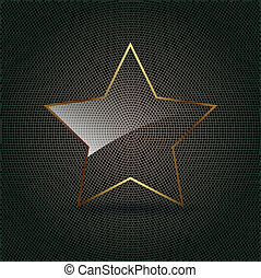 Star Glass on metal background