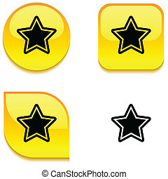 Star glossy button.