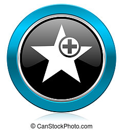 star glossy icon add favourite sign