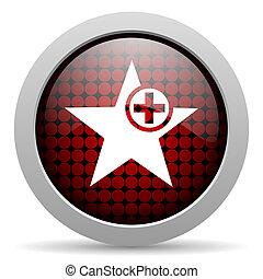 star glossy icon