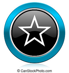 star glossy icon