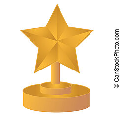 star gold trophy