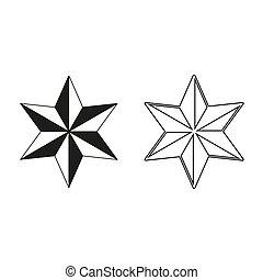 star - green vector icon